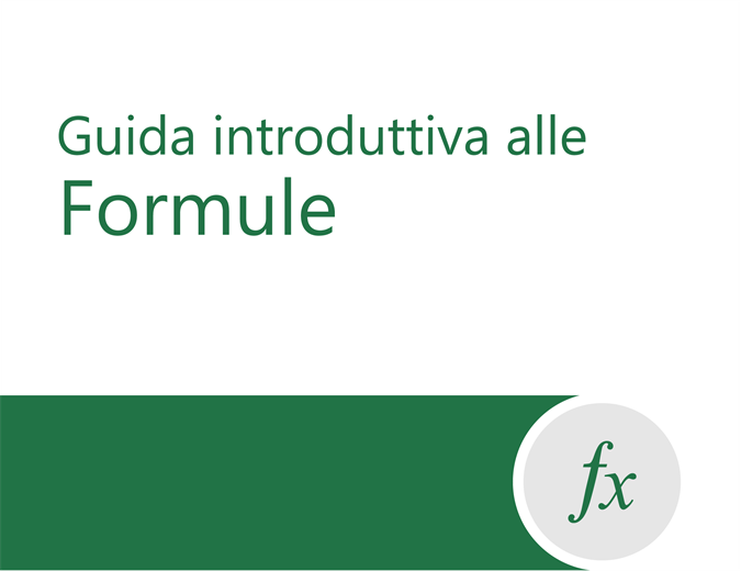 Esercitazione sulle formule