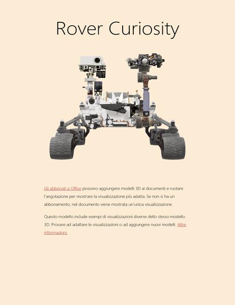 Ricerca di scienze 3D in Word (modello Rover su Marte)