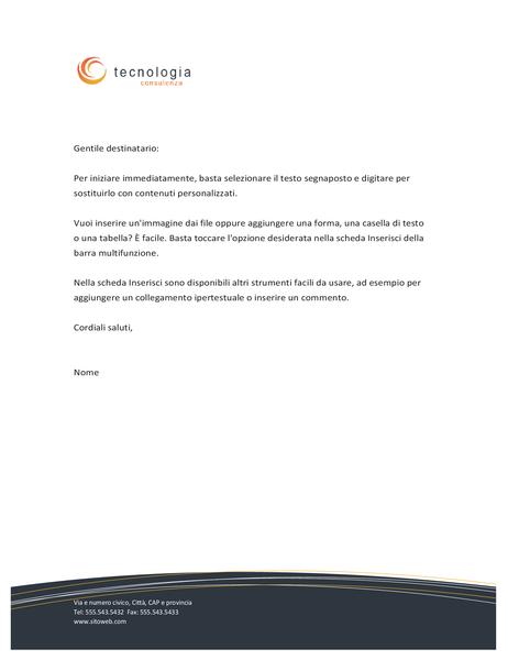 Carta intestata per aziende tecnologiche