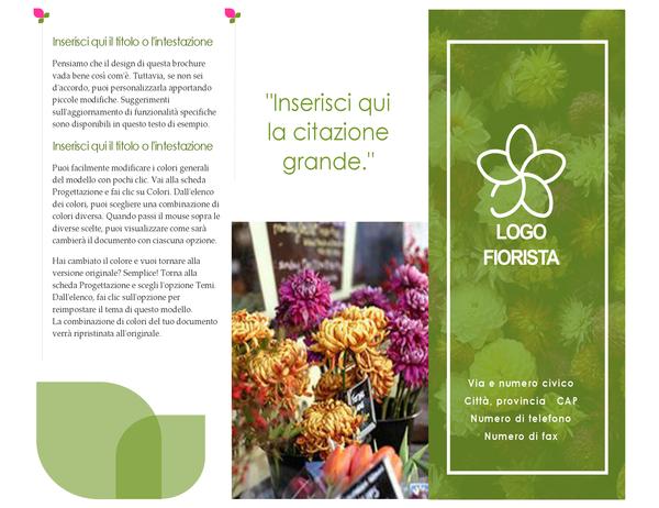Brochure per fioristi