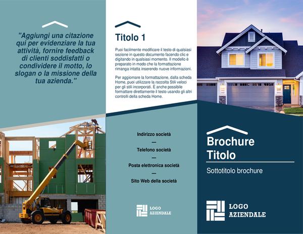 Brochure per società edili