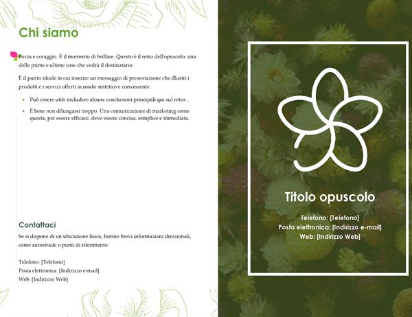 Opuscolo floreale verde