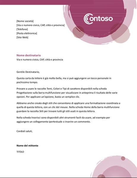 Carta intestata Tonalità di rosa