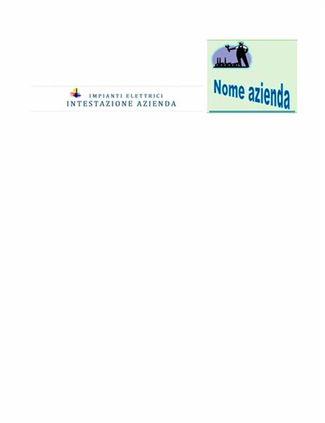 Intestazione Azienda con logo