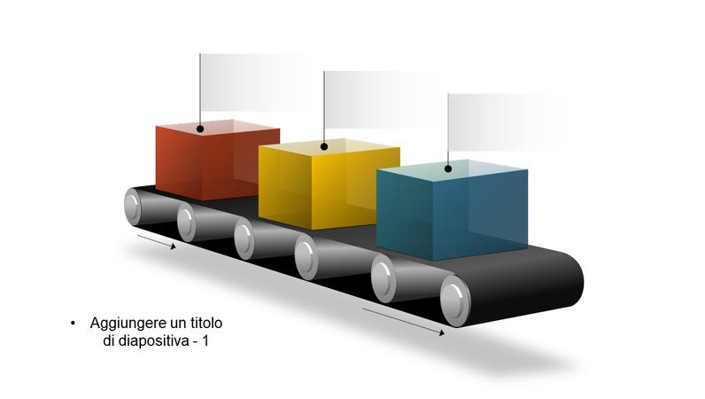 Elemento grafico del blocco di un nastro trasportatore
