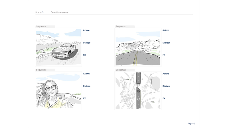 Storyboard orizzontale