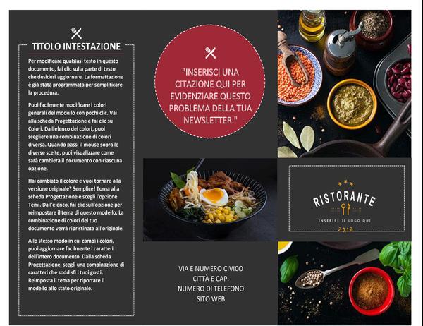 Brochure ristorante