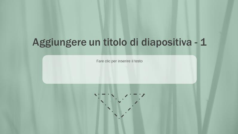 Diapositiva animata con erba