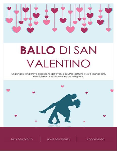Volantino per il giorno di San Valentino