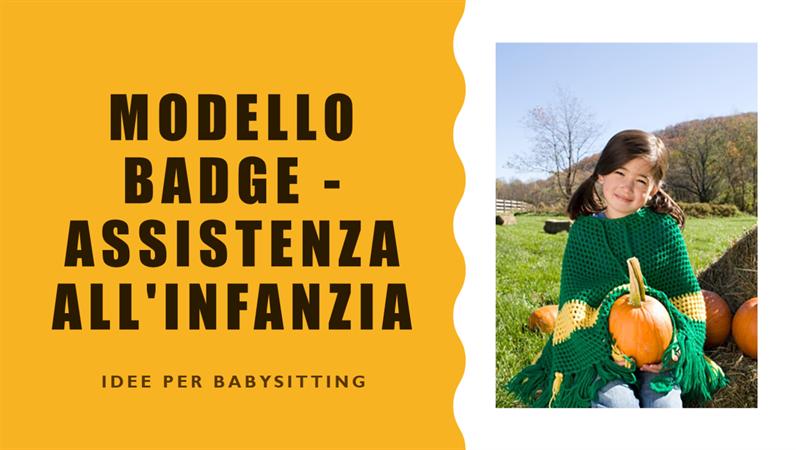 Modello Badge - Assistenza all'infanzia