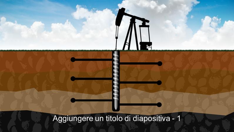 Elemento grafico di una perforazione sotterranea