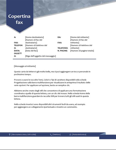 Copertina fax Freccia