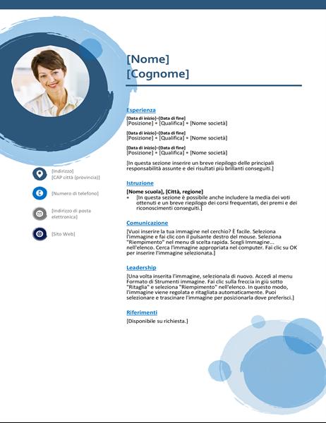 Curriculum sfere blu