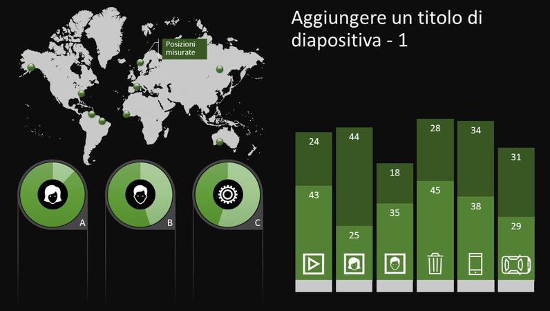 Elemento grafico infografico con globo