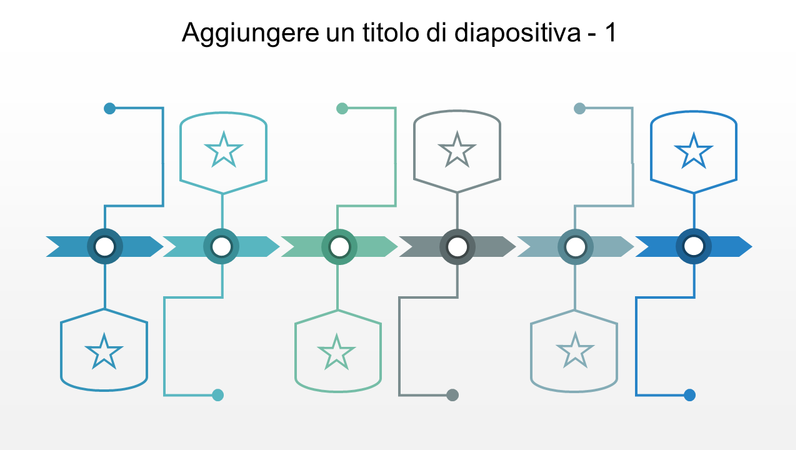 Sequenza temporale con 6 punti dati