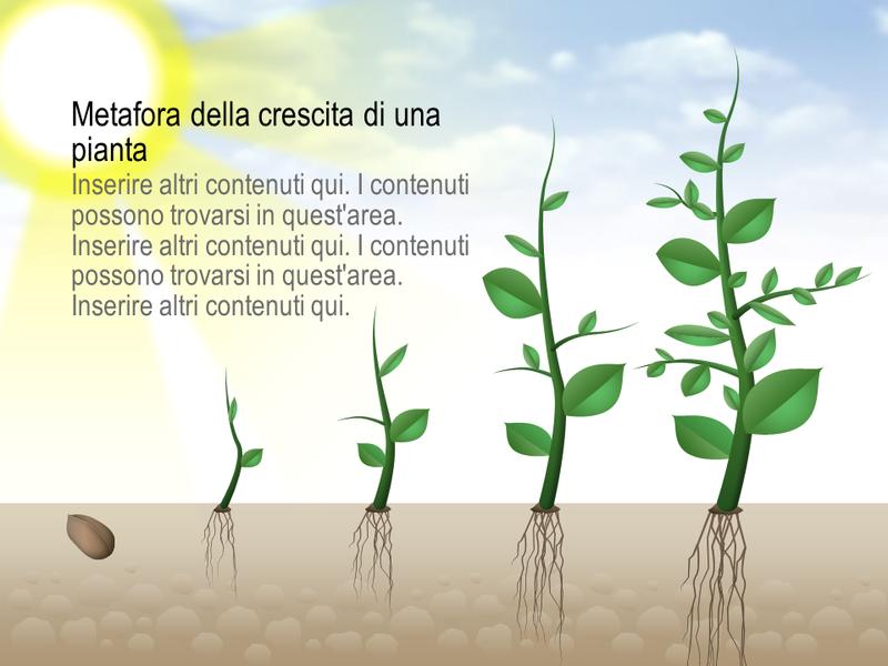 Elemento grafico della crescita di una pianta