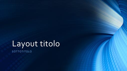Presentazione aziendale con tunnel blu (widescreen)