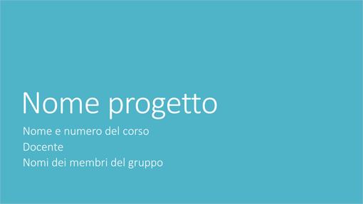 Presentazione progetto di gruppo (temi Metropolitano, widescreen)