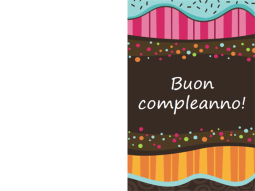 Biglietto di compleanno - pois e strisce (bambini, pieghevole)