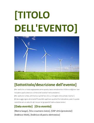 Volantino evento (verde)