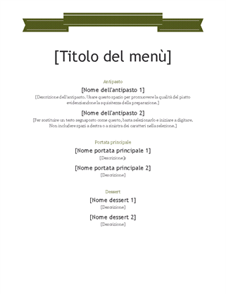 Menu Di Natale Word.Menu Office Com