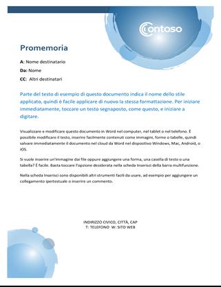 Promemoria con sfere blu