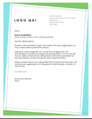 Carta intestata con motivo geometrico