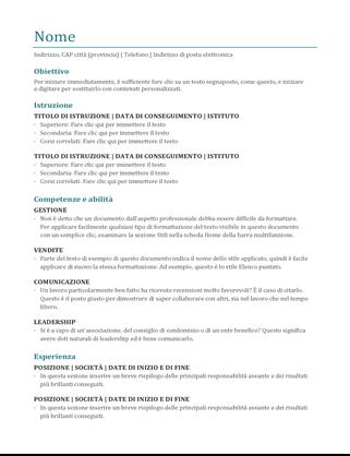 Curriculum (a colori)
