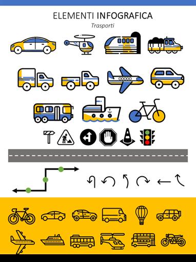 Elementi infografica trasporti