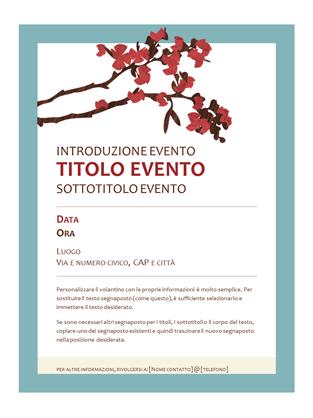 Volantino primavera (design ramo in fiore)