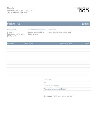 Fattura aziendale (schema Intramontabile)