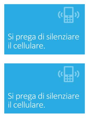 Poster di promemoria per lo spegnimento del cellulare (blu)