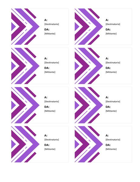 Etichette di auguri (8 per pagina)