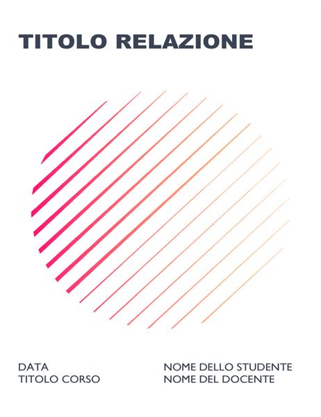 Relazione scolastica geometrica