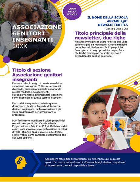 Newsletter per associazione genitori-insegnanti