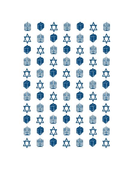 Biglietto Hanukkah per aziende