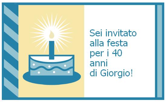 Invito festa di compleanno (mailer, non serve la busta)