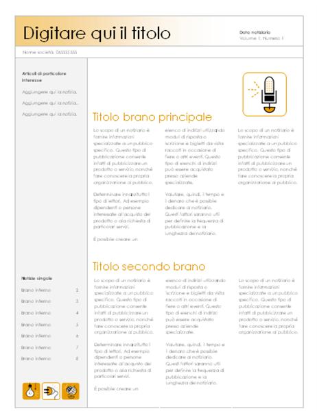 Notiziario (tema accessorio, 4 colonne)