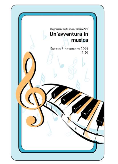 Programma del concerto della scuola