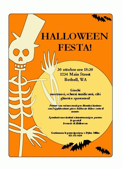 Volantino per la festa di Halloween