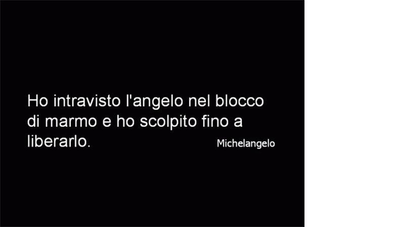 Diapositiva citazione Michelangelo