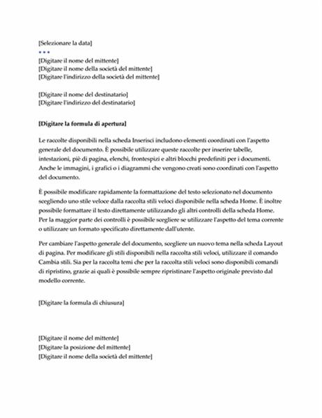 Lettera (schema Executive)