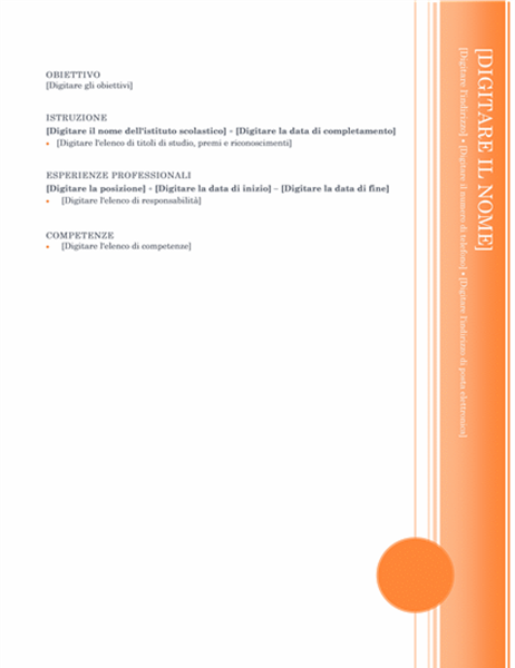 Curriculum (tema Loggia)