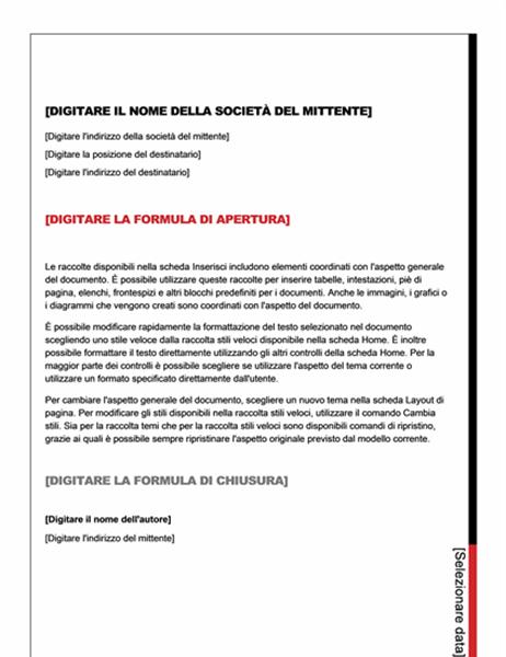 Lettera (schema Essenziale)
