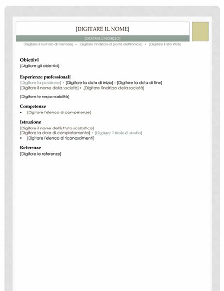 Curriculum (schema Farmacia)