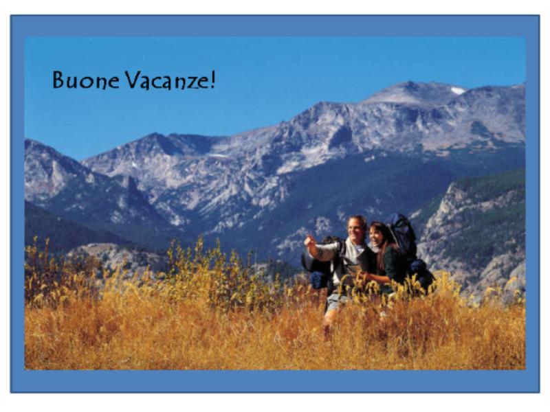 Cartolina Vacanze Montagna