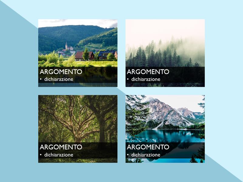 Elemento grafico SmartArt con immagini su sfondo rosso