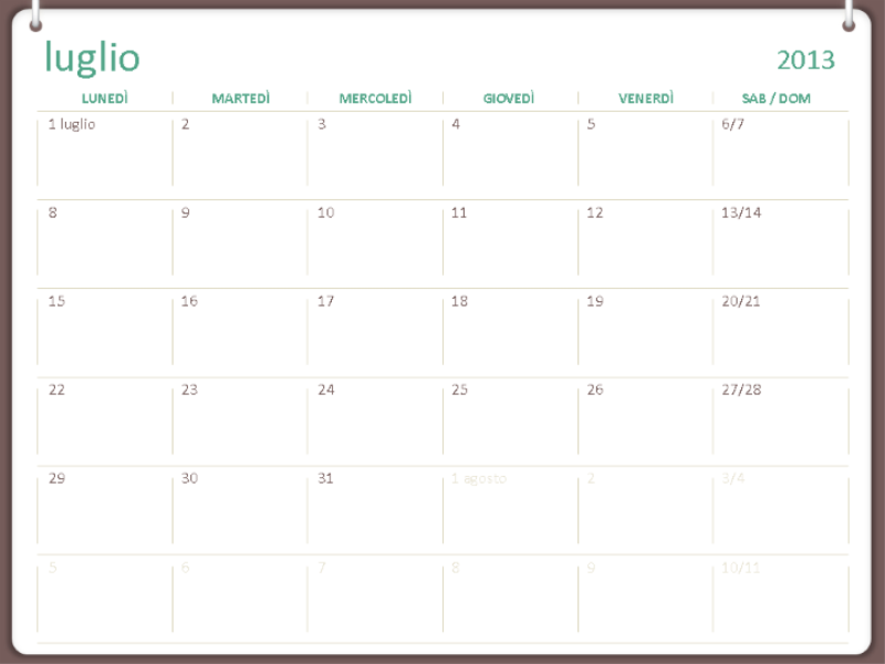 Calendario accademico 2013-2014 (luglio)