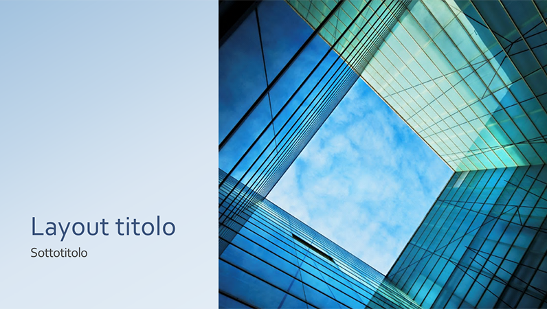 Presentazione con cubo di vetro per marketing aziendale (widescreen)