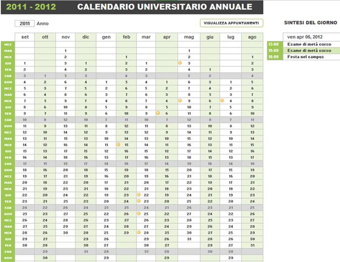 Calendario accademico